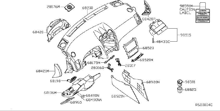 Nissan Altima Fuse Box Bracket. INST, NAVIGATION, SYSTEM