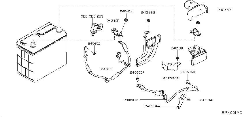 Nissan Altima Harness-sub, engine room. Body, control
