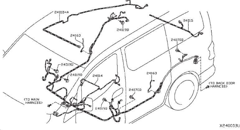 Nissan NV200 Fuel Filler Door Release Cable Clip. LOCK