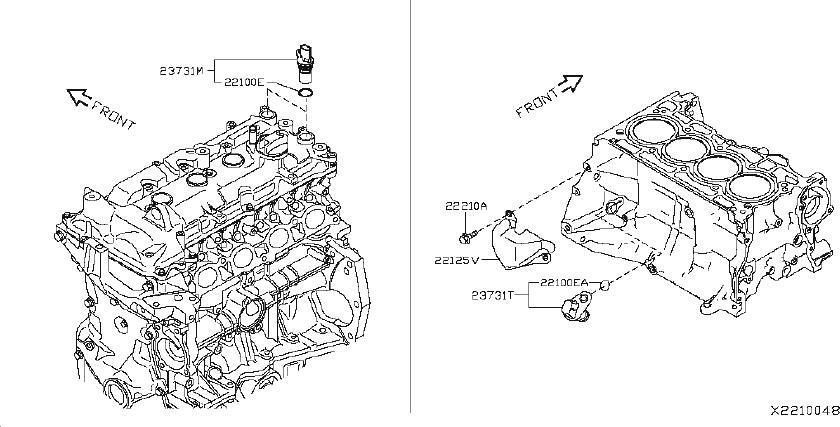 Nissan Versa Engine Camshaft Position Sensor. PHASE