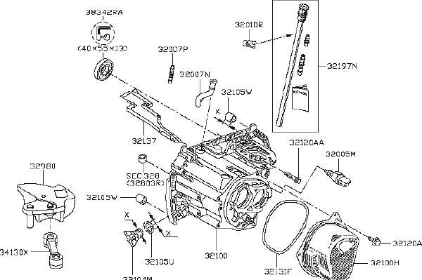 Nissan Versa Plug Gear Oil, Filler. CLUTCH, HOUSING
