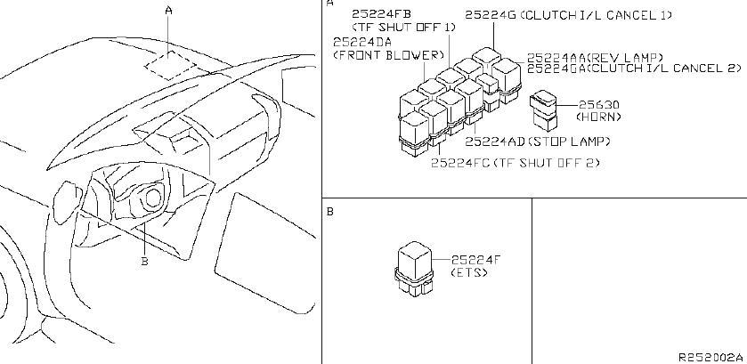 Nissan Xterra Active Body Control (ABC) Relay. Relay