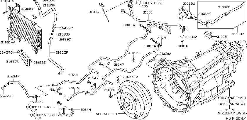 Nissan Xterra Automatic Transmission Oil Cooler Hose