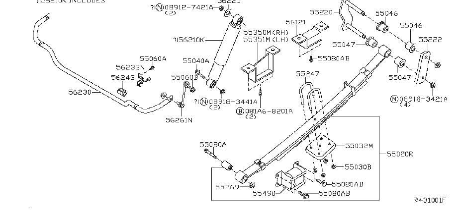 Nissan Xterra Absorber Kit Shock. (Rear). TIMING, TBD