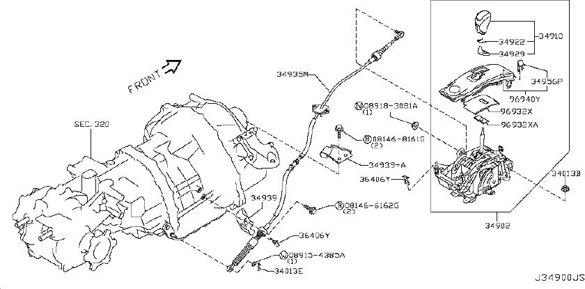 Nissan GT-R Device Transmission Control. Driveline, AUTO