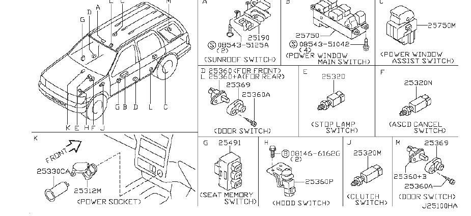 Nissan Pathfinder Switch Radiator. Switch Radio. MODEL