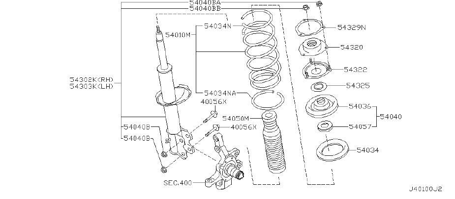Nissan Pathfinder Spacer Seat. Spacer Strut Insulator