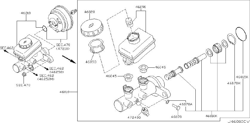 Nissan Pathfinder Brake Master Cylinder Repair Kit. TOKICO
