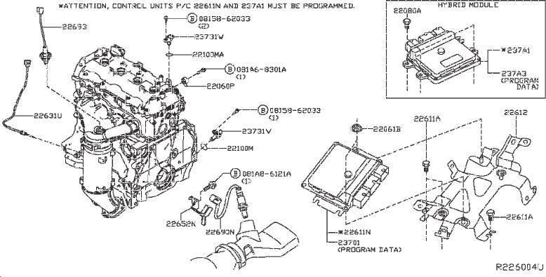 Nissan Pathfinder Engine Camshaft Position Sensor. MODULE