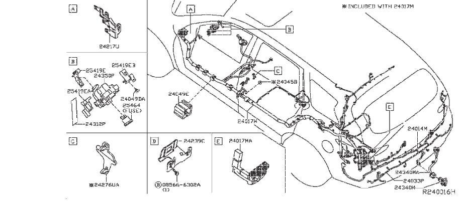Nissan Pathfinder Engine Wiring Harness. MAIN, CONTROL