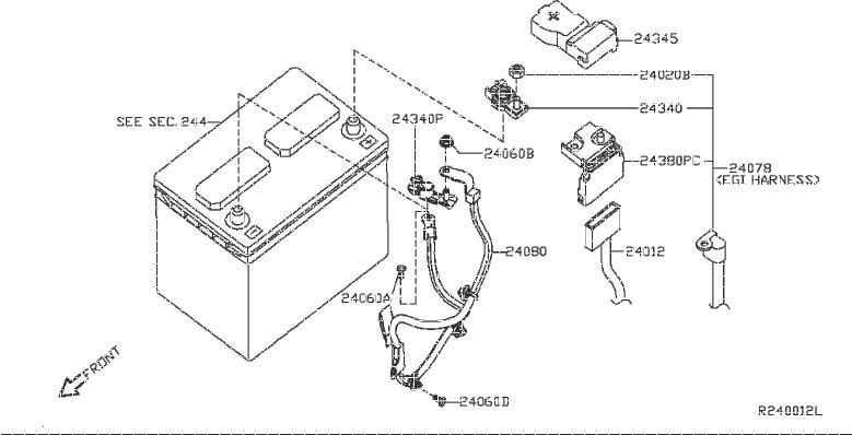 Nissan Pathfinder Door Wiring Harness (Right, Front