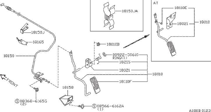 Datsun PICKUP Stopper Rubber, Accelerator Pedal. ASCD