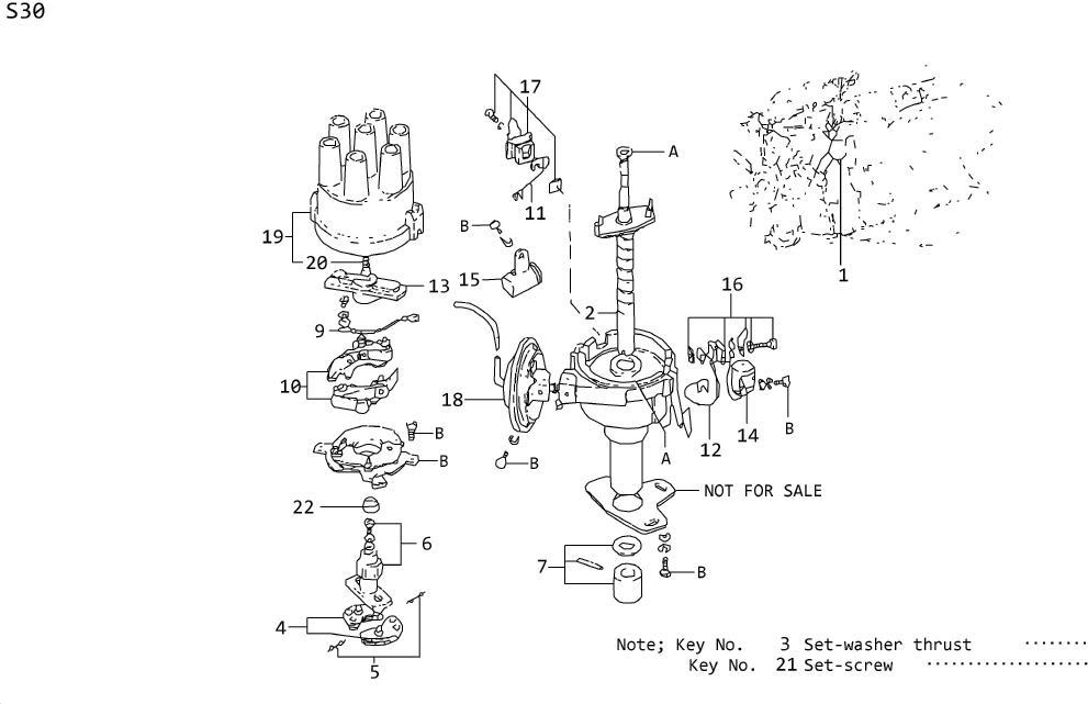 Datsun 240Z Remanufactured Distributor. AUTO, AUTOMATIC