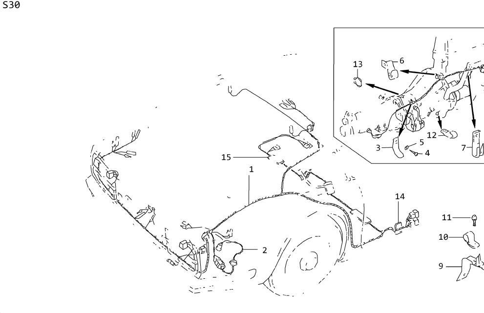 Datsun 280Z Clamp Hose. Clip (Transmission). Screw SELF