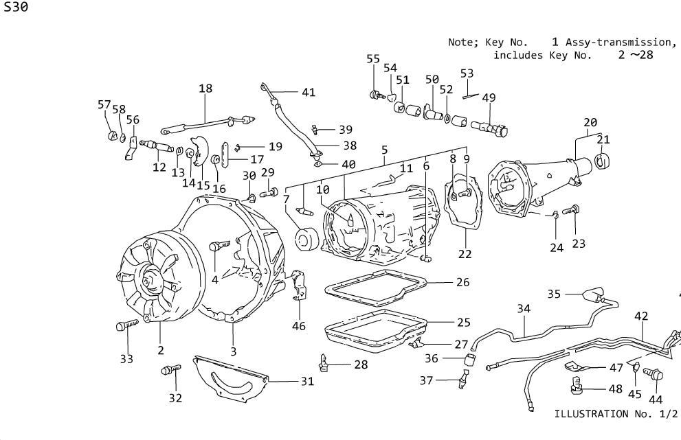 Nissan Maxima Plate Manual. TRANSMISSION, CASE, AUTOMATIC
