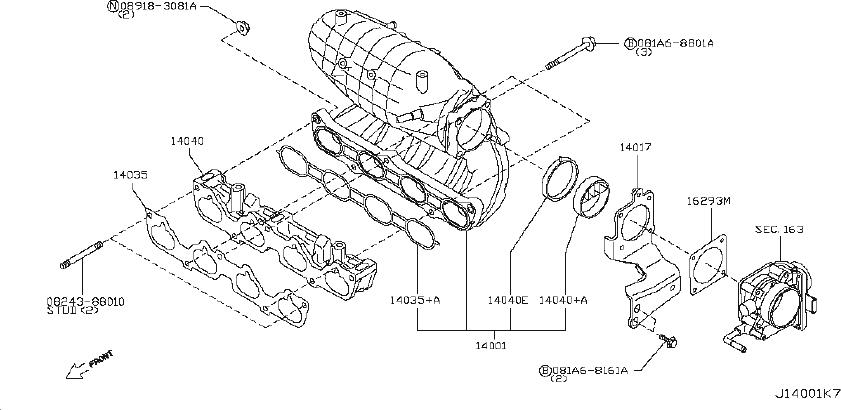 Nissan Rogue Catalytic Converter With Integrated Exhaust