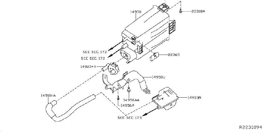 Nissan Rogue Evaporator Control System Pressure Sensor