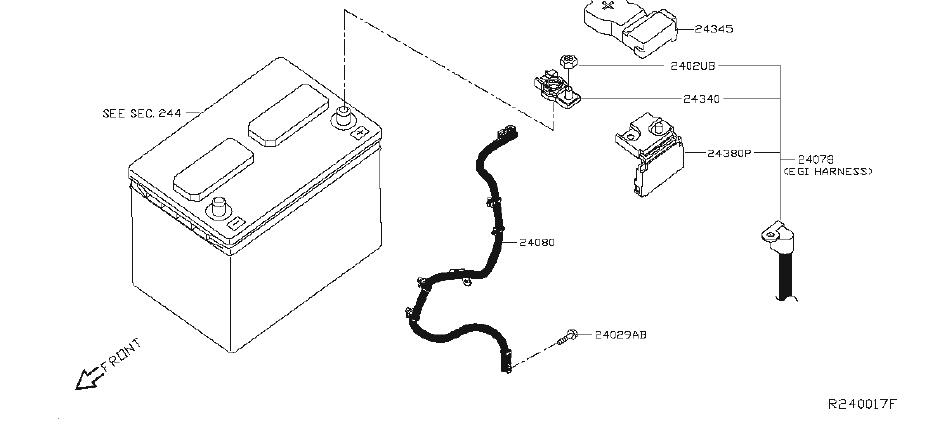 Nissan Rogue Clamp. Clip Wiring Harness. BODY, ENGINE