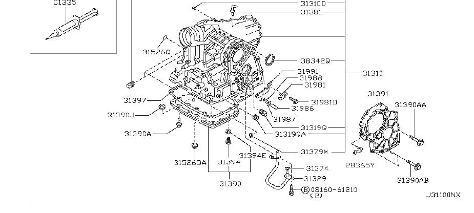 Nissan Quest Converter Torque. CASE, TRANSMISSION, HOUSING