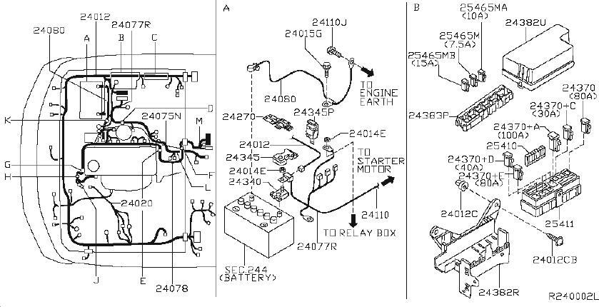Nissan Xterra Harness Engine Room. FITTING, DOOR, BODY