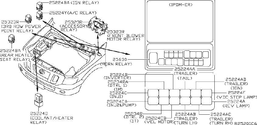 Nissan NV3500 Active Body Control (ABC) Relay. Relay