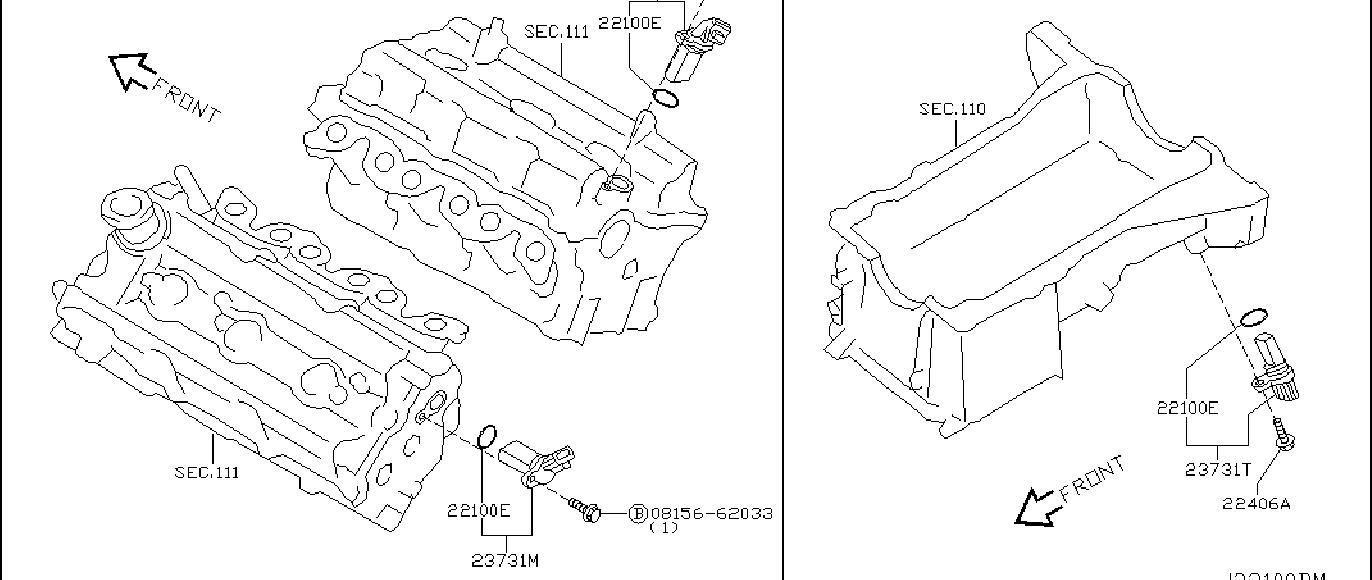 Nissan 350Z Crankshaft Position Sensor. DISTRIBUTOR, REV