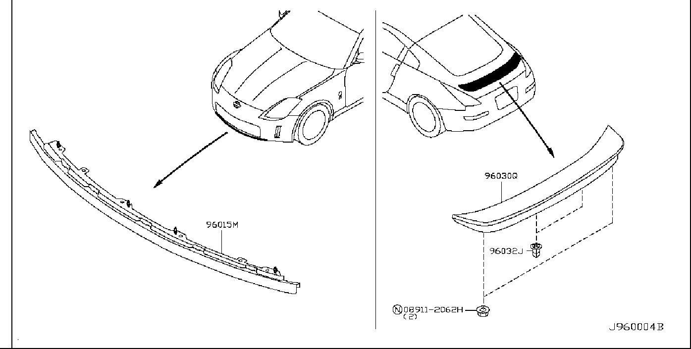 Nissan 350Z Srs product bolt. Spoiler, air, enthusia