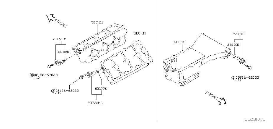 Nissan Murano Crankshaft Position Sensor. DISTRIBUTOR, REV