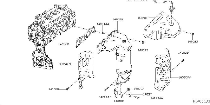 Nissan Murano Throttle Position Sensor. ENGINE, INTAKE