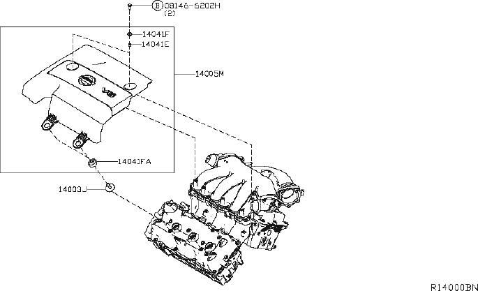 Nissan Murano Engine Intake Manifold Gasket. COVER