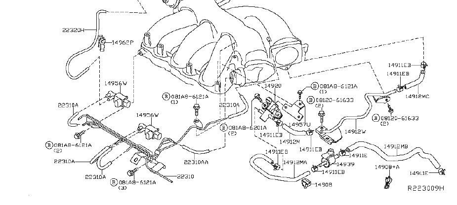 Nissan Frontier Vapor Canister Filter. SYSTEM, EMISSIONS