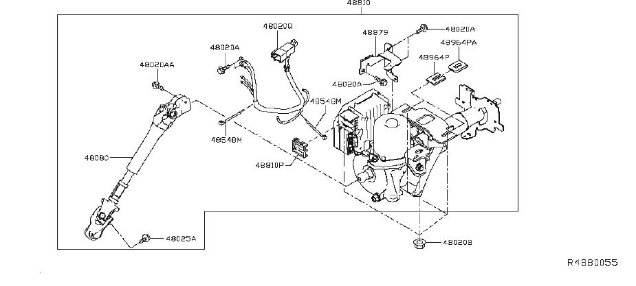 Nissan Leaf Steering Column Wiring Harness. Suspension