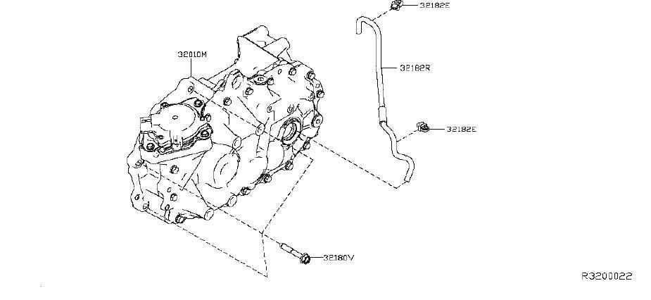 Nissan Leaf Hose Breather. GEAR, REDUCTION, TRANSMISSION
