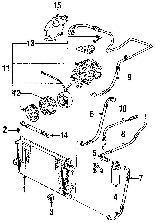 Porsche 944 A/c refrigerant discharge hose. Conditioning