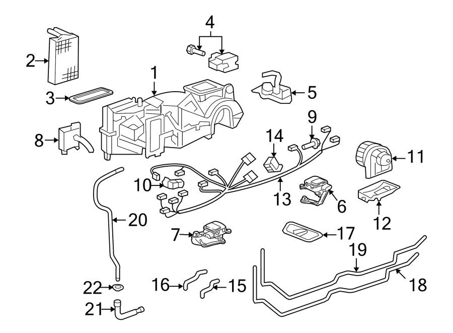 2008 Porsche Cayman Evaporator. Core. Case. AIR