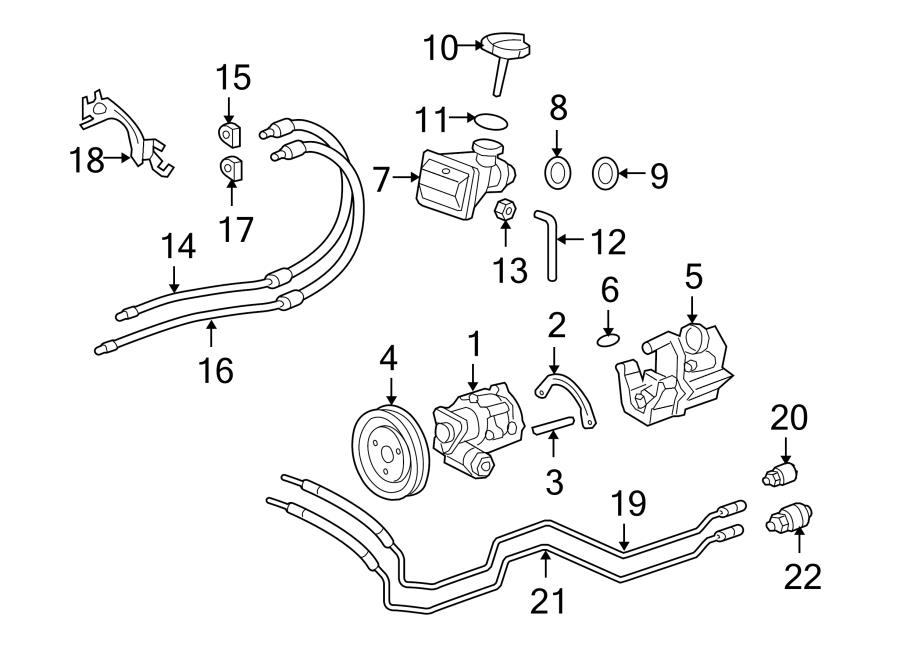 2007 Porsche Cayman Power Steering Pressure Line Bracket