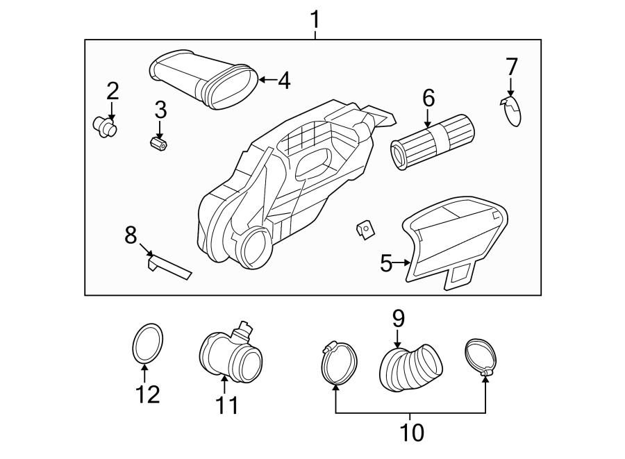 2008 Porsche Cayman Air Filter and Housing Assembly