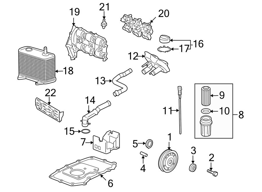 2010 Porsche Engine Oil Filter Element. Housing, LITER