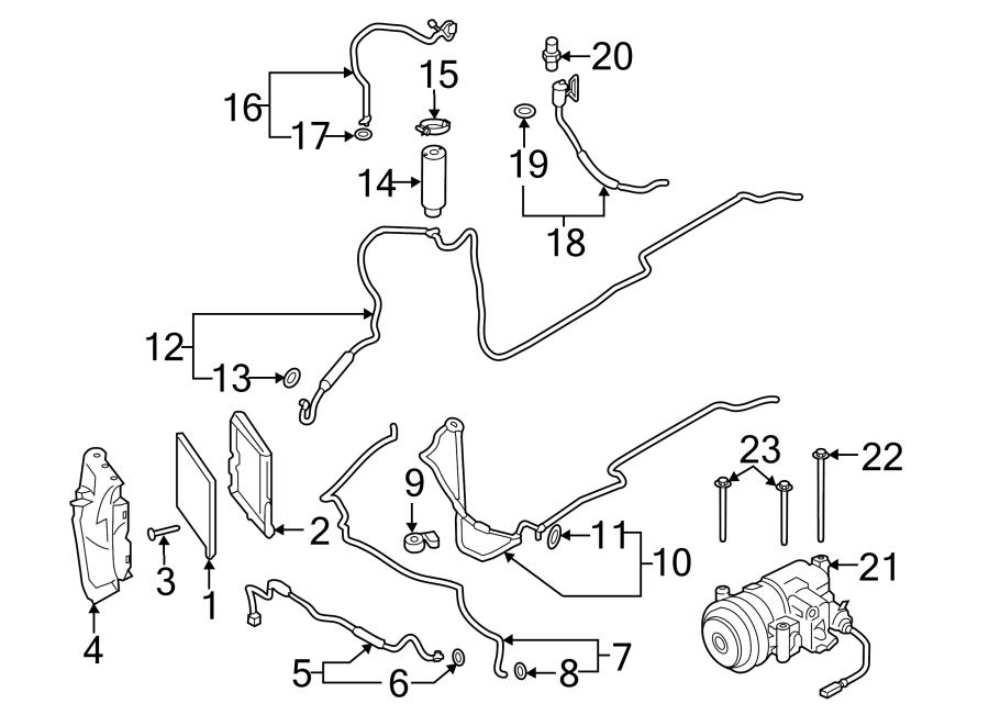 Porsche Cayman A/c condenser. Air conditioning (a/c