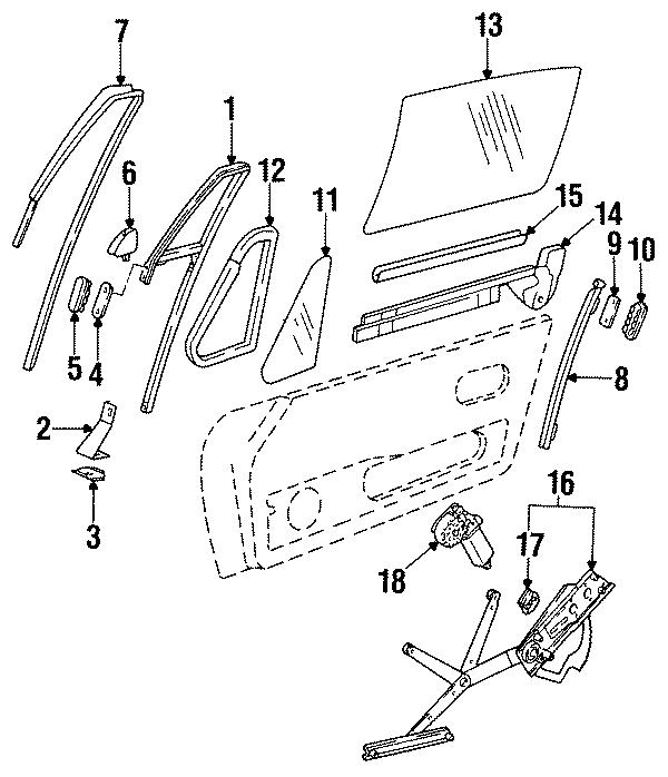 1996 Porsche 911 Guide channel. WINDOW GUIDE. CONVERTIBLE