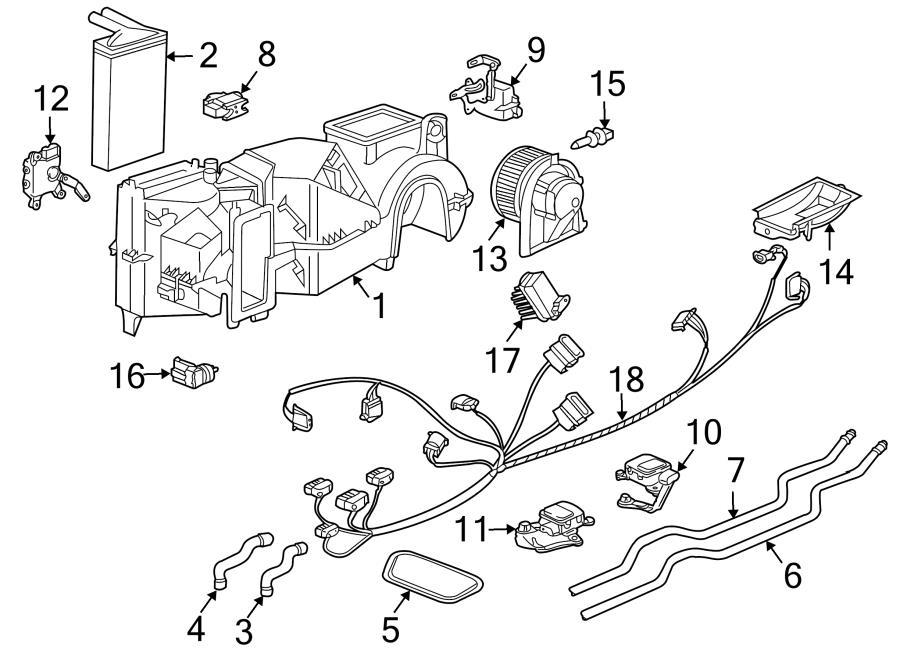 Porsche Boxster Hvac heater blend door actuator. Temp door
