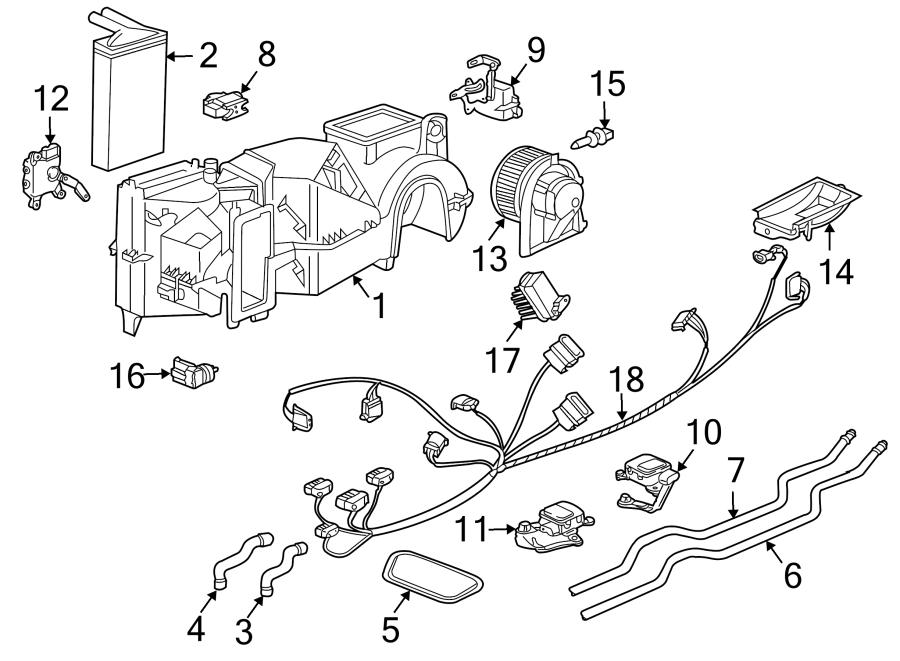 Porsche Boxster Defroster flap motor. Hvac defrost mode