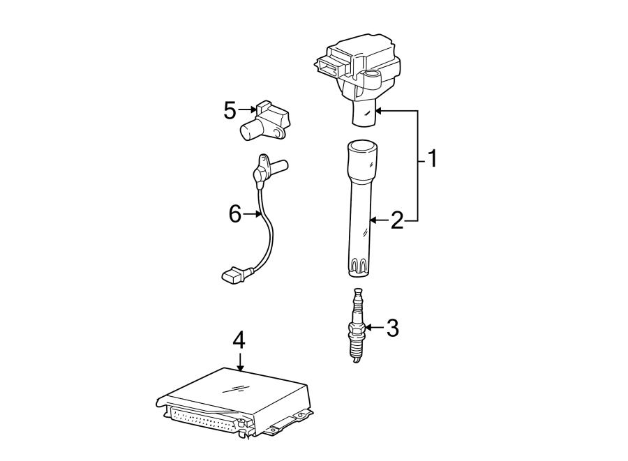 2000 Porsche Boxster Engine Crankshaft Position Sensor
