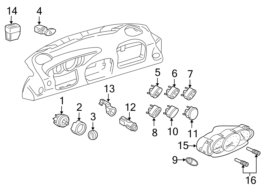 2003 Porsche Boxster Trip Odometer Reset Stem Knob