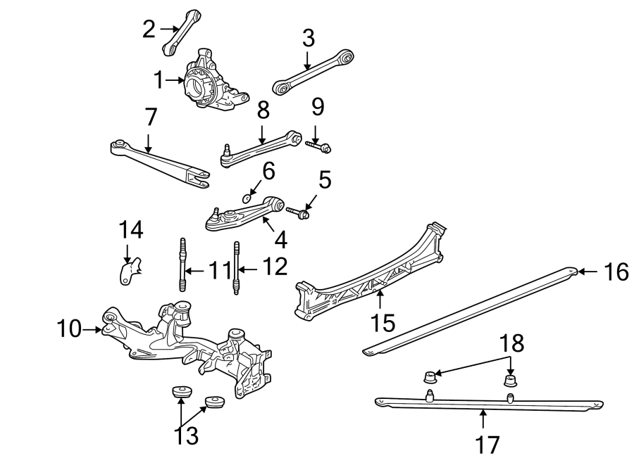 Porsche 911 Suspension Subframe Crossmember. Trans, REAR