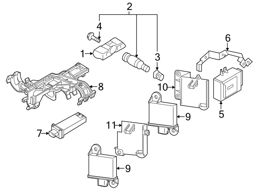 2011 Porsche 911 Tire Pressure Monitoring System Control