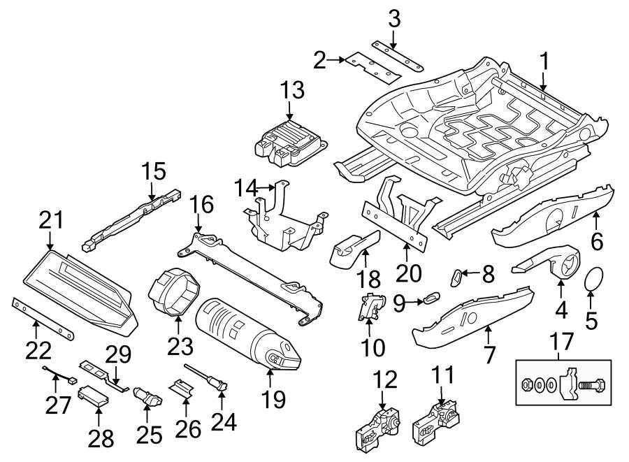Porsche 911 Control. Module. Seat. Box. UNIT, M. Position