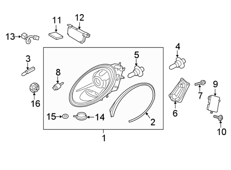 2017 Porsche 911 Headlight Assembly. LED, LampS