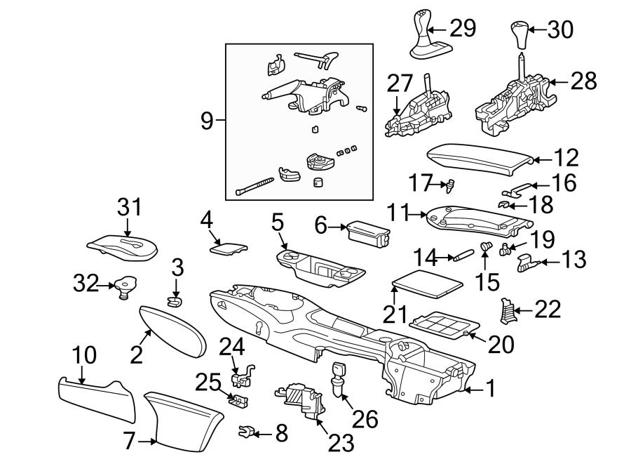 2001 Porsche 911 Hand brake lever. Park brake hndle