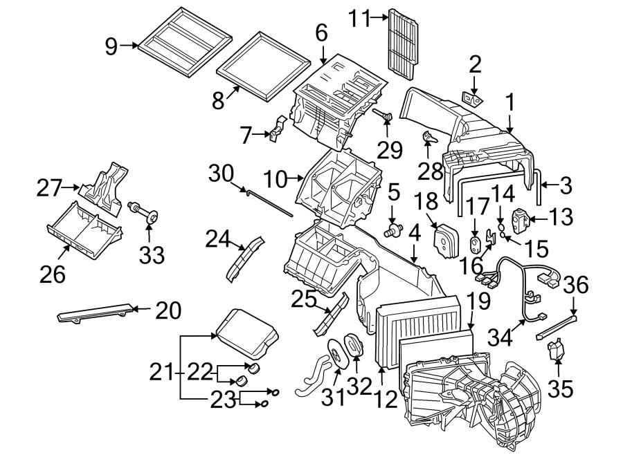2004 Porsche Cayenne Air Conditioning (A/C) Evaporator